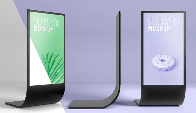 Digital signage billboard mockup. Source: Freepik. Retail digital signage - Rev Interactive